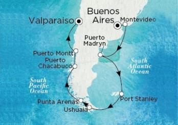 Crucero De Buenos Aires (Argentina) a Valparaíso (Chile)