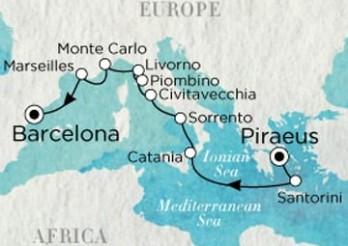 Crucero De Atenas (El Pireo) a Barcelona