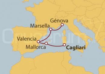 Crucero De Cagliari (Cerdeña) a Génova
