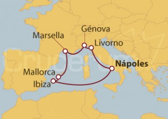 Crucero Italia, Francia y España