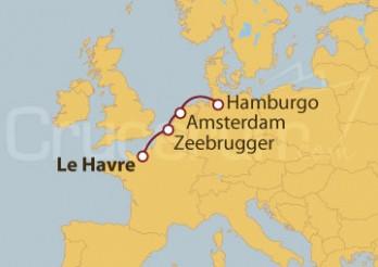 Crucero De Le Havre (Francia) a Hamburgo (Alemania)