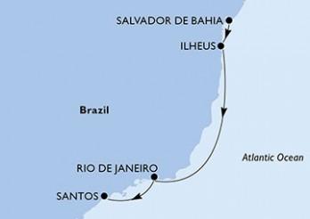 Crucero De Salvador de Bahía a Santos