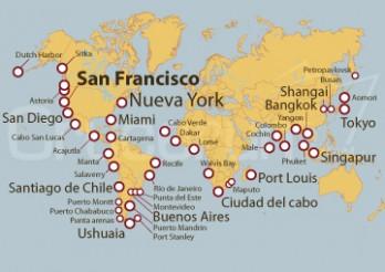 Crucero Vuelta al Mundo de 182 días: De San Francisco  a Nueva York