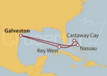 Crucero Galveston (Texas) y Nassau (Bahamas)