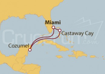 Crucero Miami (EEUU), Cozumel (México) y Disney Castaway Cay