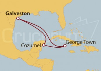 Crucero Galveston (Texas), Cozumel (México), Grand Cayman