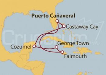 Crucero México, Islas Caimán y Jamaica
