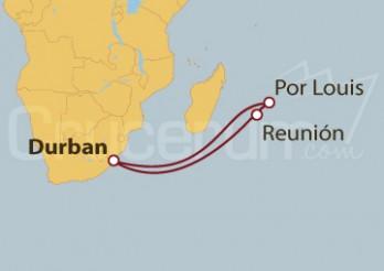 Crucero Sudáfrica, Mauricio y Reunión