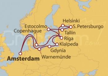 Crucero Báltico: Scandinavia, Rusia y  Amsterdam