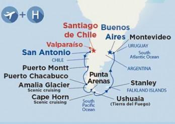 Crucero Viaje por Sudamérica desde Barcelona