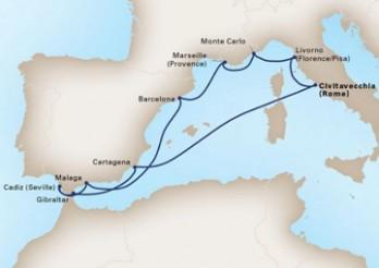 Crucero Costas del Mediterráneo