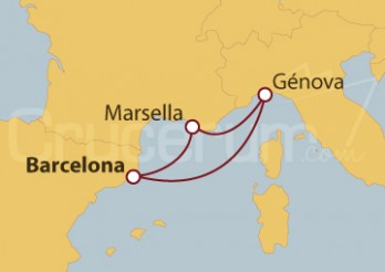 Crucero Desde el Puerto Viejo de Marsella hasta Barcelona