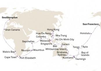 Crucero Vuelta al Mundo 2019: Transpacífico, Asia y África