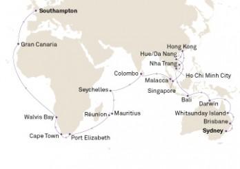Crucero Vuelta al mundo: Australia y Asia desde Europa