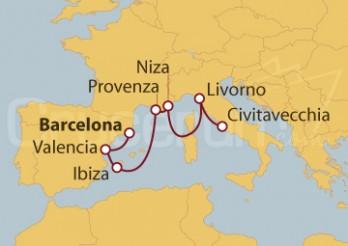 Crucero España, Francia e Italia