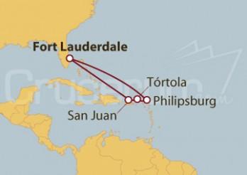 Crucero Puerto Rico y Antillas Británicas