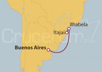 Crucero De Buenos Aires (Argentina) a Itajai (Brasil)