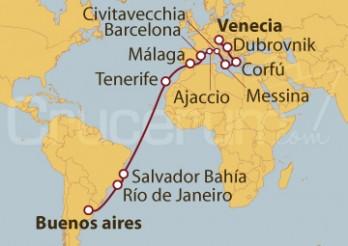 Crucero De Buenos Aires (Argentina) a Venecia (Italia)