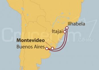 Crucero Uruguay, Argentina y Brasil
