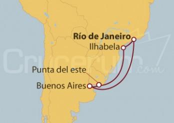 Crucero Brasil, Argentina y Uruguay