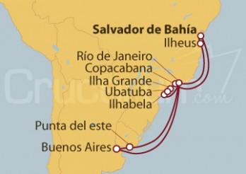 Crucero Brasil, Argentina, Uruguay