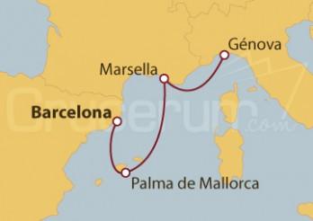 Crucero De Barcelona a Génova (Italia)