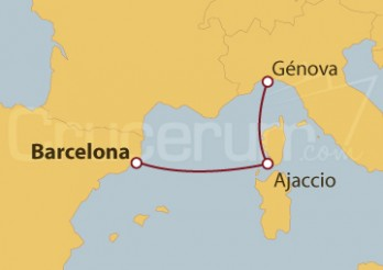 Crucero Minicrucero 3 días: Barcelona, Ajaccio y Génova