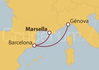 Crucero Francia, España e Italia