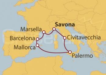 Crucero Italia, Francia, España, Islas Baleares