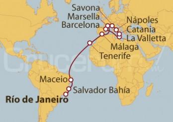 Crucero De Río de Janeiro (Brasil) a Barcelona