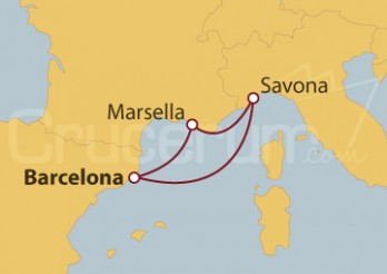 Crucero España, Francia y Italia