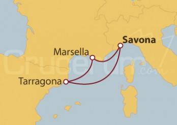 Crucero Italia, España y Francia