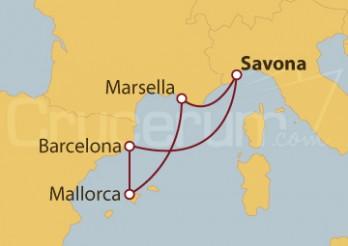 Crucero España y Francia