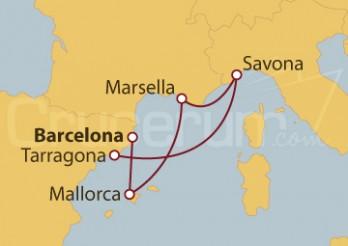 Crucero España, Islas Baleares, Francia y Italia