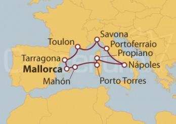 Crucero Islas Baleares, Italia, Córcega y Francia