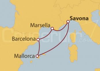 Crucero Italia, Francia, España e Islas Baleares