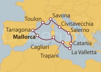 Crucero Islas Baleares, Italia, Malta, España