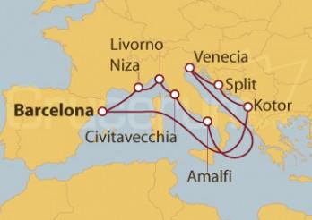 Crucero Francia, Italia, Croacia y Montenegro