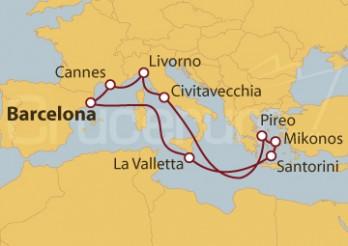 Crucero Francia, Italia, Grecia y Malta