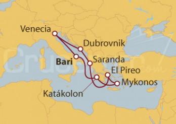 Crucero Bari (Italia), Grecia, Albania y Croacia