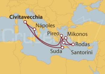 Crucero Islas Griegas desde Civitavecchia (Roma)