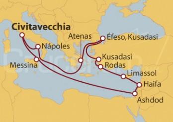 Crucero Italia, Israel, Chipre, Grecia y Turquía