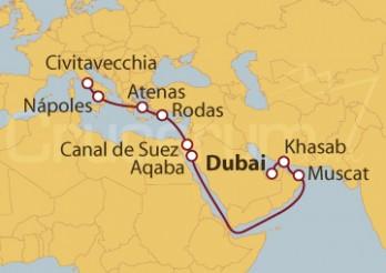 Crucero De Dubai (EAU) a Civitavecchia (Roma)