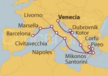 Crucero Islas Griegas e Italia