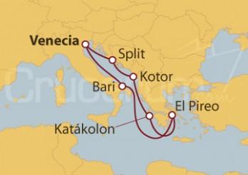 Crucero Italia, Croacia, Montenegro y Grecia