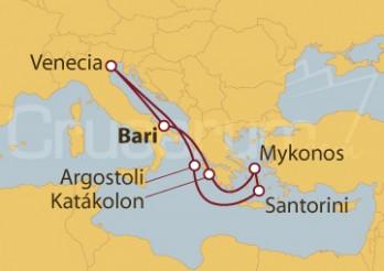 Crucero Italia, Grecia