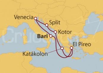 Crucero Italia, Croacia, Montenegro, Grecia
