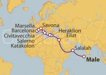 Crucero De Male (Maldivas) a Barcelona