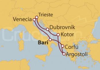 Crucero Italia, Grecia, Montenegro, Croacia