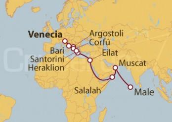 Crucero De Venecia (Italia) a Male (Maldivas)